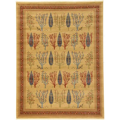 Jan Mustard/Orange Area Rug Rug Size: Rectangle 9 x 12