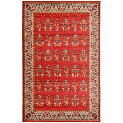 Foret Noire Red Area Rug Rug Size: 6 x 9