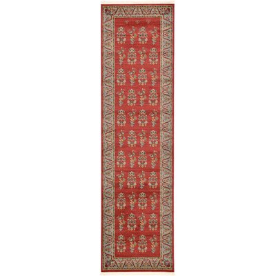 Foret Noire Red Area Rug Rug Size: Runner 27 x 10