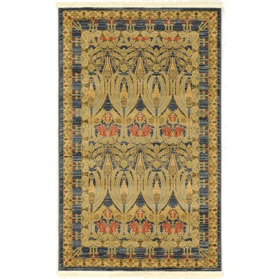 Fonciere Navy Blue Area Rug Rug Size: Rectangle 33 x 53