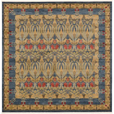 Fonciere Brown/Blue Area Rug Rug Size: Square 10