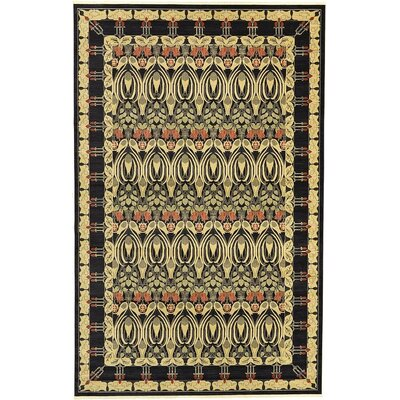 Fonciere Black Area Rug Rug Size: 106 x 165