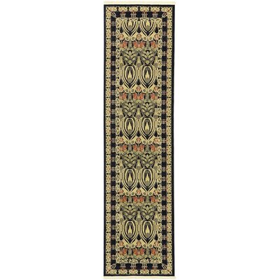 Fonciere Black Area Rug Rug Size: Runner 27 x 10
