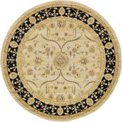 Fonciere Cream Area Rug Rug Size: Round 6