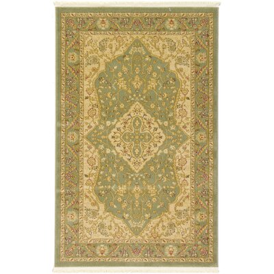 Fonciere Light Green Area Rug Rug Size: 33 x 53