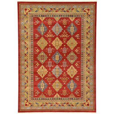 Valley Red Area Rug Rug Size: 33 x 53