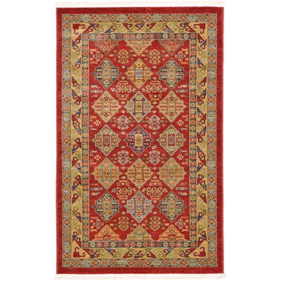 Valley Red Area Rug Rug Size: 8 x 112