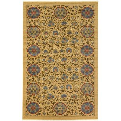 Fonciere Tan Area Rug Rug Size: 106 x 165