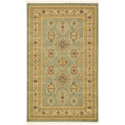 Valley Light Green Area Rug Rug Size: 33 x 53