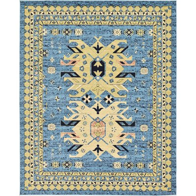 Valley Light Blue Area Rug Rug Size: 8 x 10