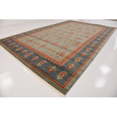 Foret Noire Light Blue Area Rug Rug Size: Rectangle 106 x 165