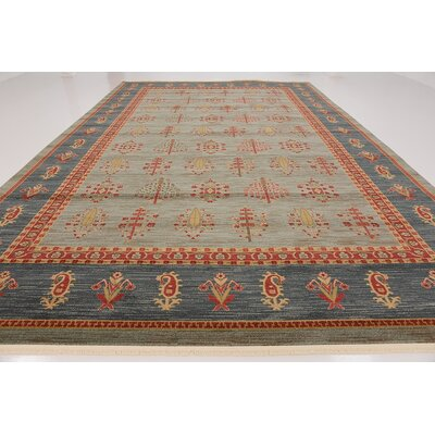 Foret Noire Light Blue Area Rug Rug Size: Rectangle 9 x 12