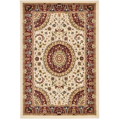 Astral Ivory Area Rug Rug Size: 5 x 8
