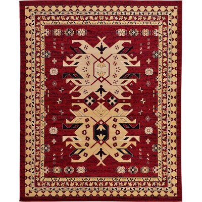 Valley Red Area Rug Rug Size: 910 x 13