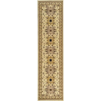 Valley Ivory Area Rug Rug Size: Runner 27 x 10