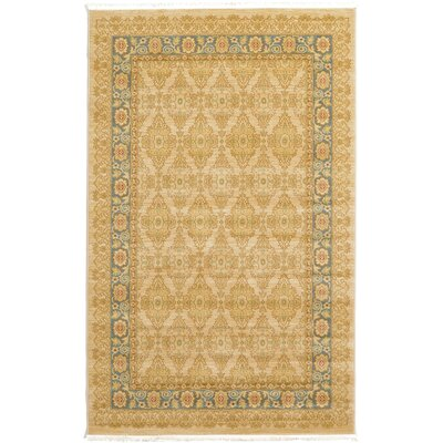Fonciere Cream Area Rug Rug Size: 33 x 53