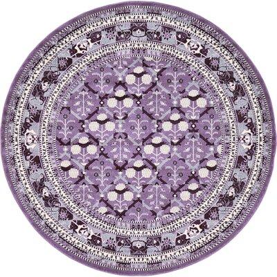 Katiranoma Purple Area Rug Rug Size: Round 6'