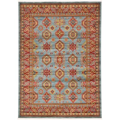 Valley Bright Red Area Rug Rug Size: 7 x 10