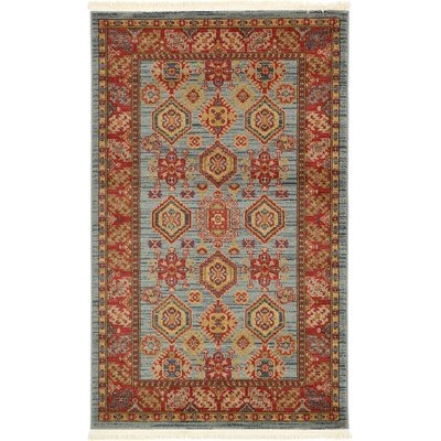 Valley Bright Red Area Rug Rug Size: 33 x 53