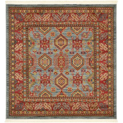 Valley Bright Red Area Rug Rug Size: Square 4