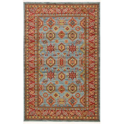 Valley Bright Red Area Rug Rug Size: 5 x 8