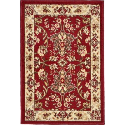 Essehoul Red Area Rug Rug Size: 22 x 3
