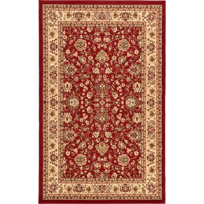 Essehoul Red Area Rug Rug Size: 5 x 8
