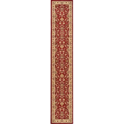 Essehoul Red Area Rug Rug Size: Runner 3 x 165