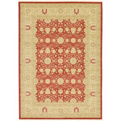 Fonciere Rust Red Area Rug Rug Size: 33 x 53
