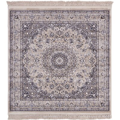 Jeanelle Taupe Area Rug Rug Size: Square 4