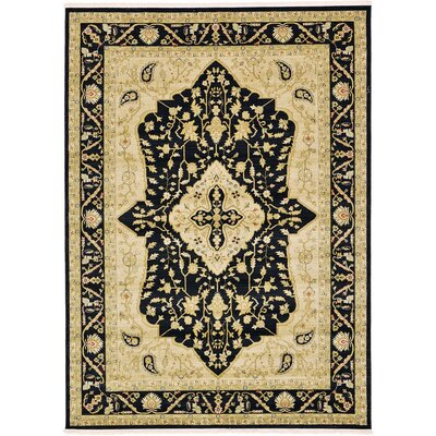 Fonciere Black Area Rug Rug Size: 7 x 10