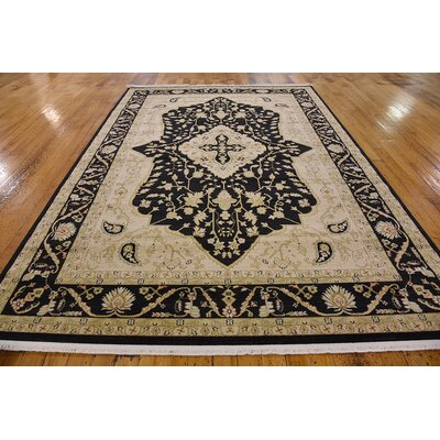 Britley Black/Beige Area Rug Rug Size: Rectangle 5 x 8