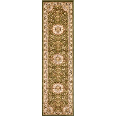Astral Green Area Rug Rug Size: Runner 27 x 10