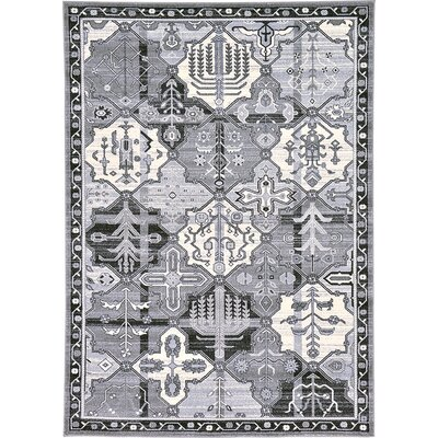 Karlovice Gray Area Rug Rug Size: 7 x 10