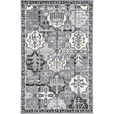 Karlovice Gray Area Rug Rug Size: 5 x 8