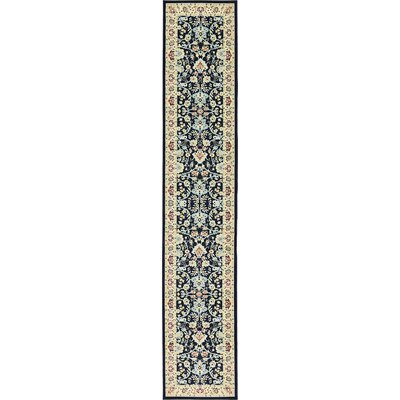 Essehoul Navy Blue Area Rug Rug Size: Runner 3 x 165