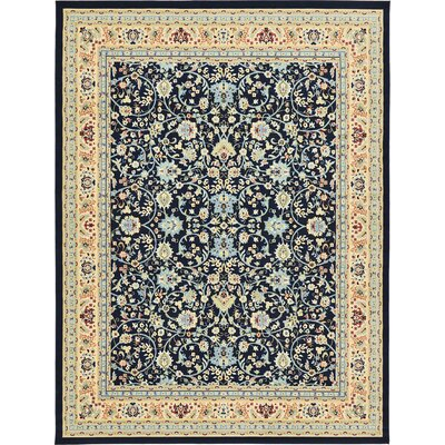 Essehoul Navy Blue Area Rug Rug Size: 8 x 10