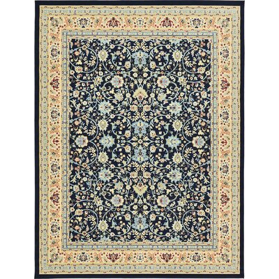 Essehoul Navy Blue Area Rug Rug Size: Runner 22 x 82