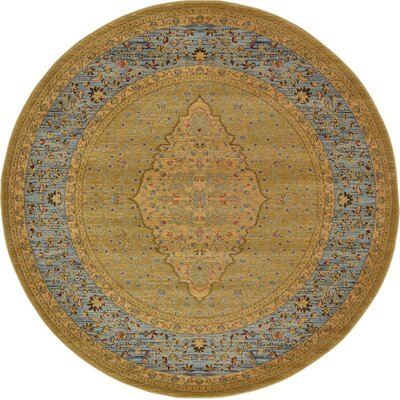 Fonciere Light Brown Area Rug Rug Size: Round 6
