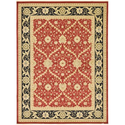 Fonciere Red Area Rug Rug Size: 33 x 53