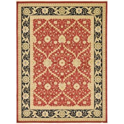Fonciere Red Area Rug Rug Size: 7 x 10