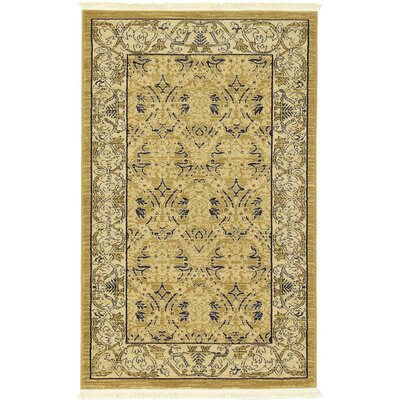 Jamar Beige Area Rug Rug Size: Rectangle 33 x 53