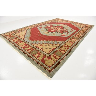 Jana Red Oriental Area Rug Rug Size: Rectangle 106 x 165
