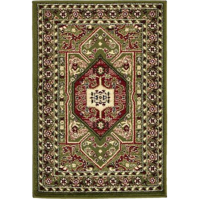 Zoey Green Area Rug Rug Size: Rectangle 5 x 8