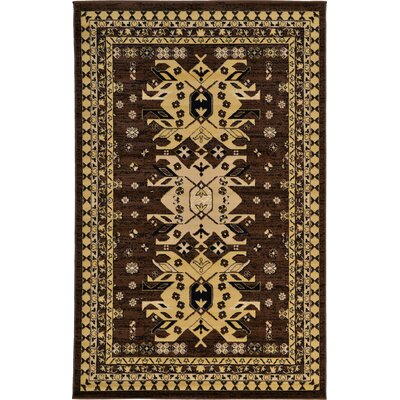 Valley Brown Area Rug Rug Size: 22 x 3
