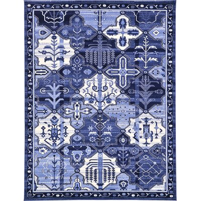 Karlovice Blue Area Rug Rug Size: 3 x 5
