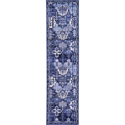 Karlovice Blue Area Rug Rug Size: Runner 27 x 10