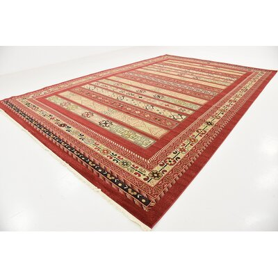 Foret Noire Rust Red Area Rug Rug Size: Rectangle 10'6