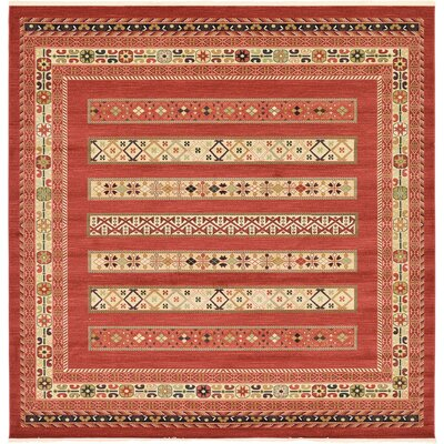 Foret Noire Rust Red Area Rug Rug Size: Square 10
