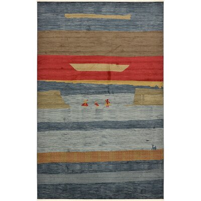 Foret Noire Blue Area Rug Rug Size: Rectangle 106 x 165